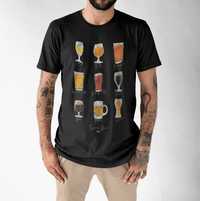 Camiseta RUST Types of Beer Black