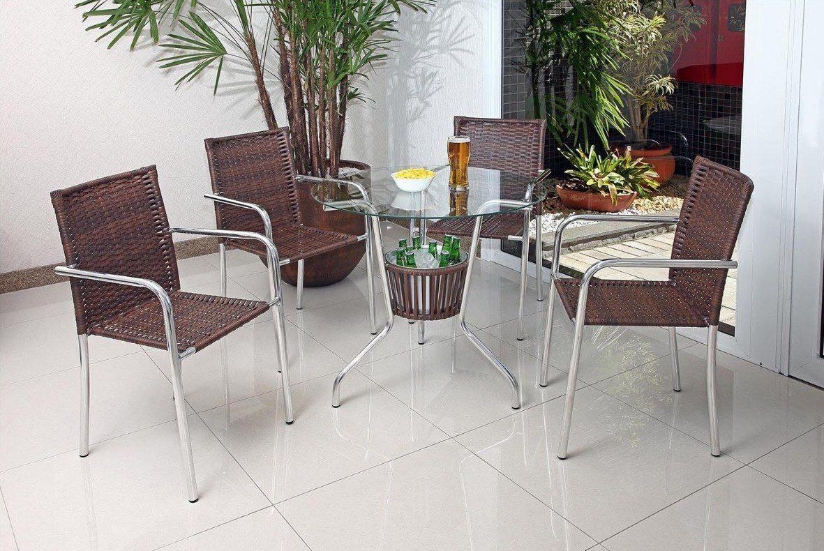 Conjunto Mesa com Balde e 4 Cadeiras Md 01