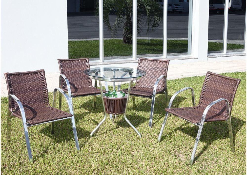 Conjunto Mesa com Balde e 4 Cadeiras Md 04