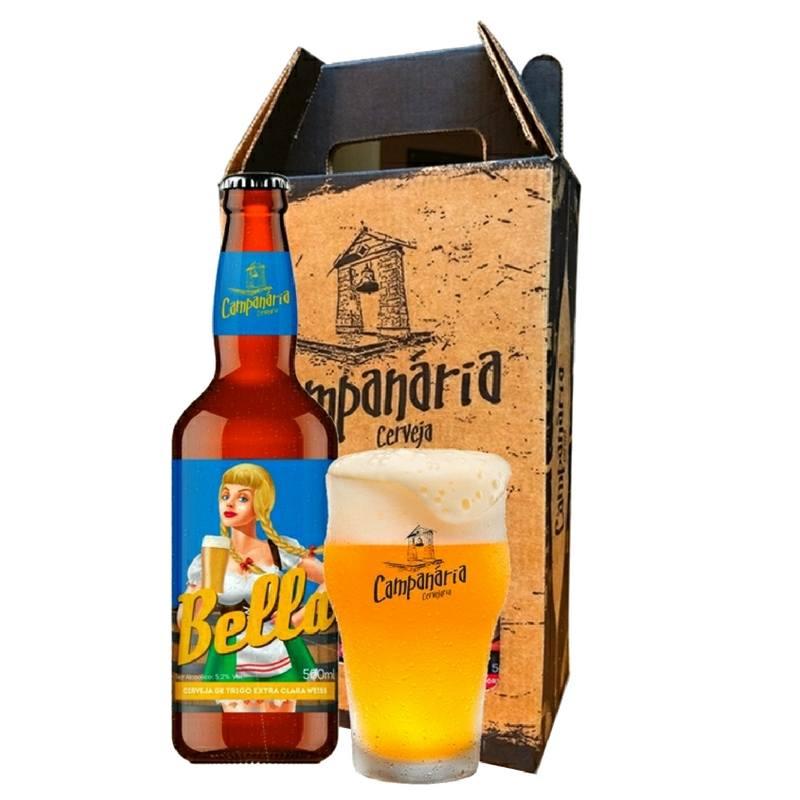 Kit Presente Campanária Weiss + Copo Half Pint