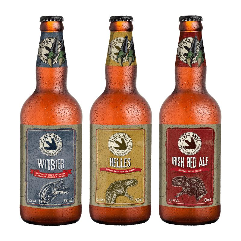 Kit Linha Retrô T-Rex Beer