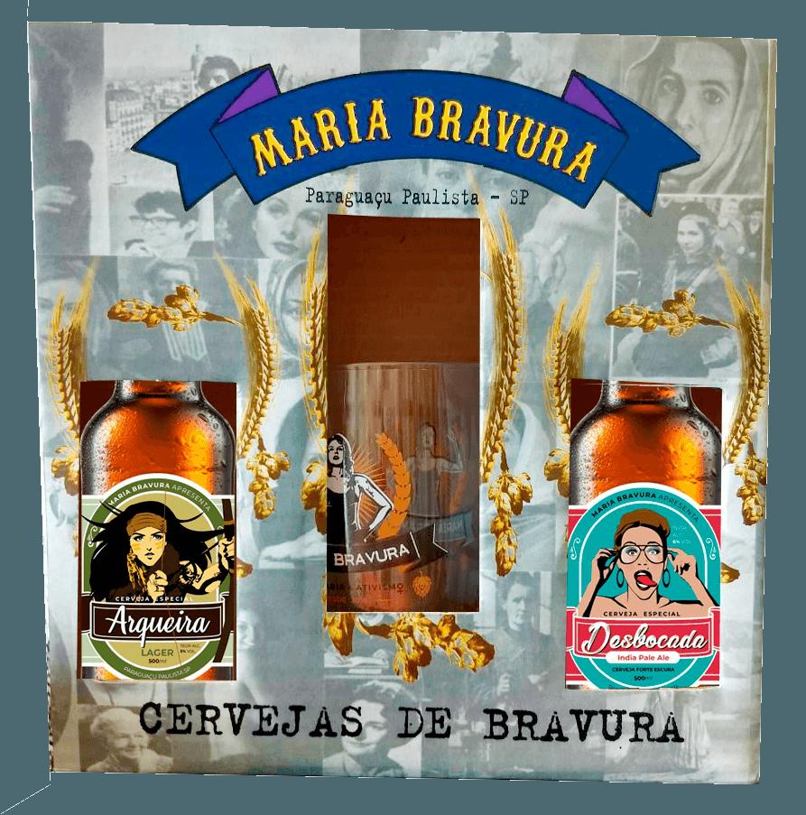 Kit Maria Bravura - Cervejas Arqueira e Desbocada 500ml + Caneca 340ml