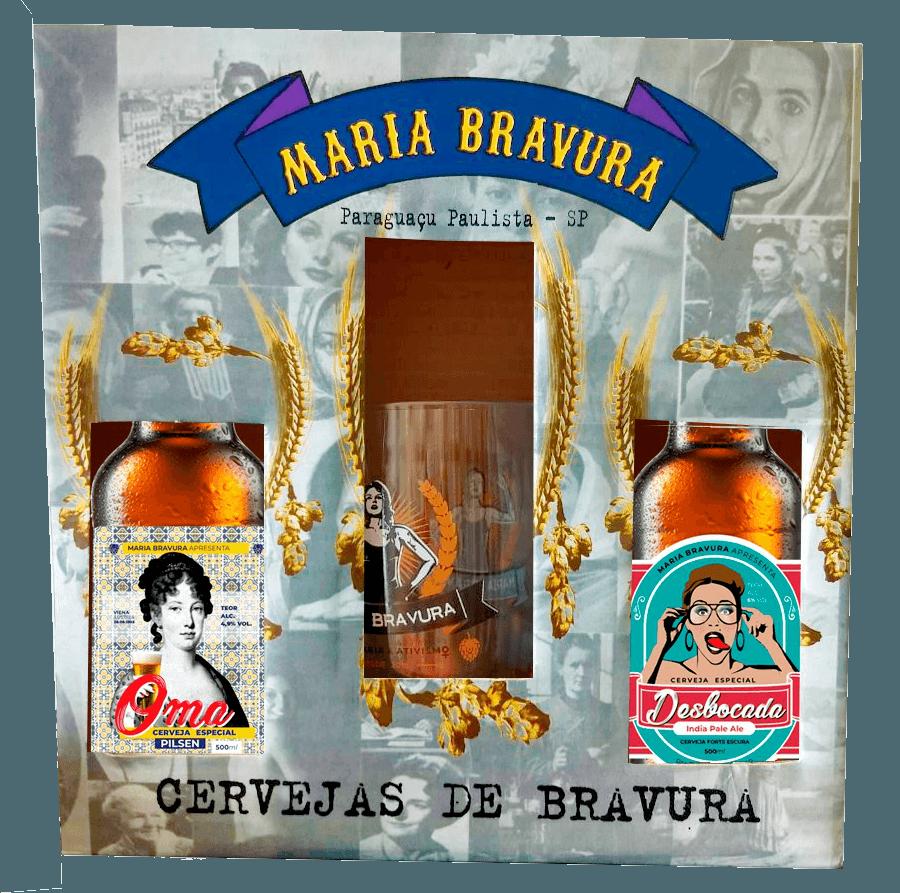 Kit Maria Bravura - Cervejas Oma e Desbocada 500ml + Caneca 340ml