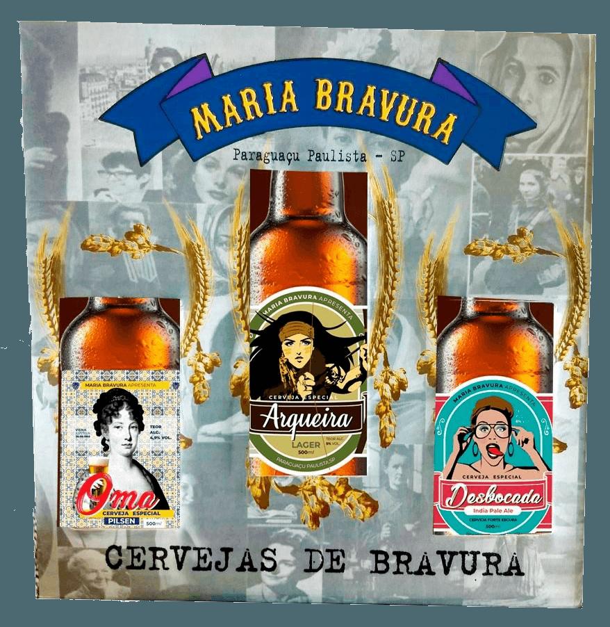Kit Presente Maria Bravura - 3 Estilos