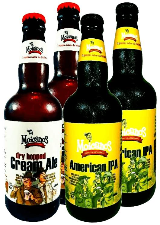Pack 4 Cervejas Moicanos