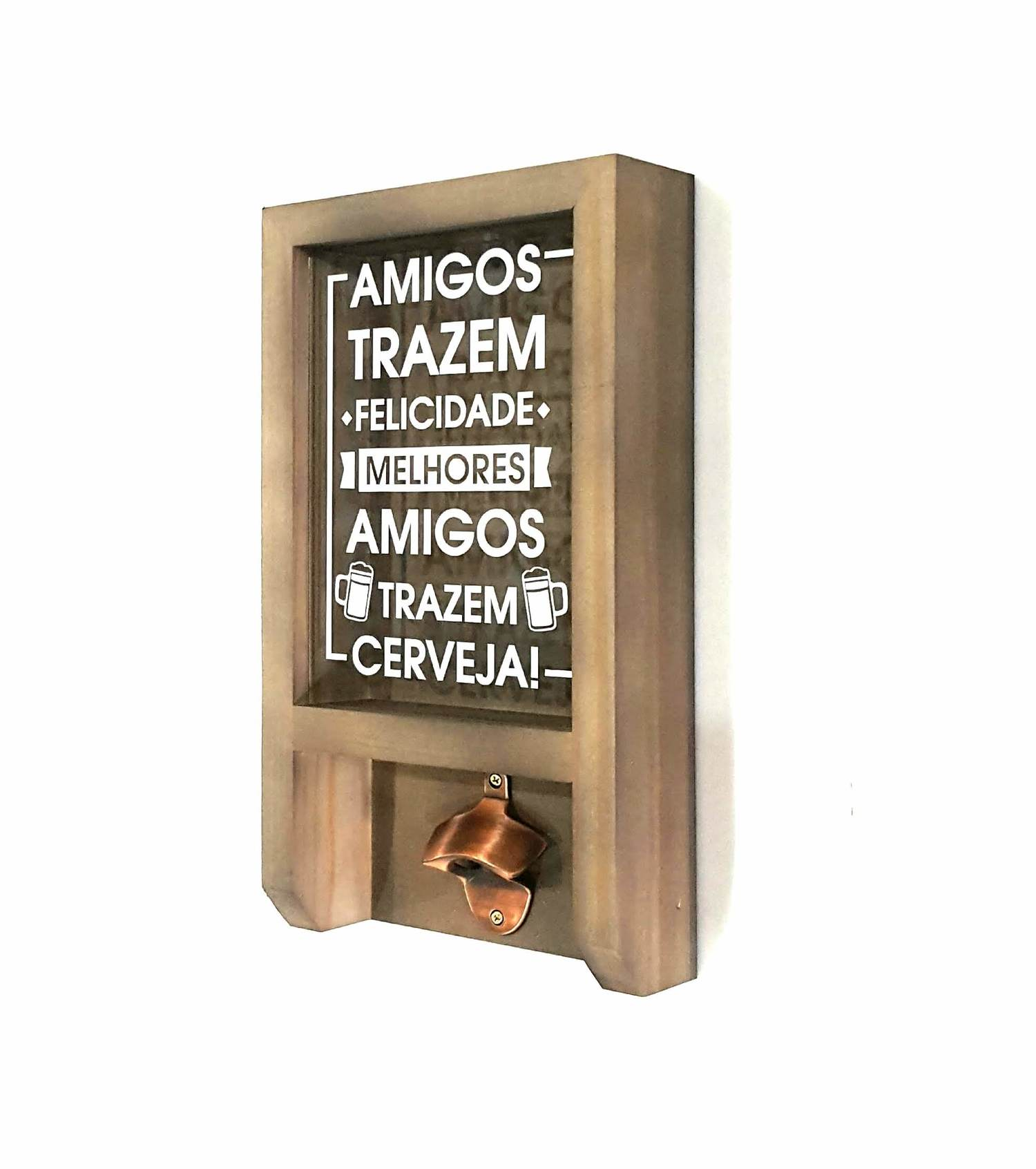 Porta Tampinha com Abridor com Imã - Amigos Trazem ...