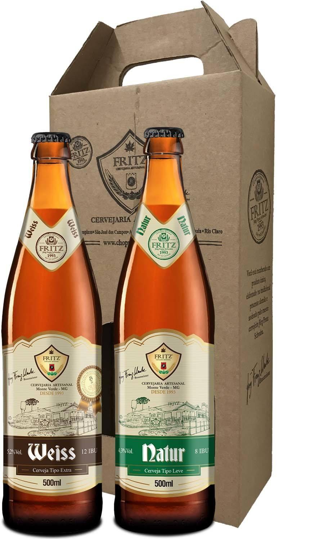 Pack 2 Cervejas Fritz - Weiss + Natur - 500ml