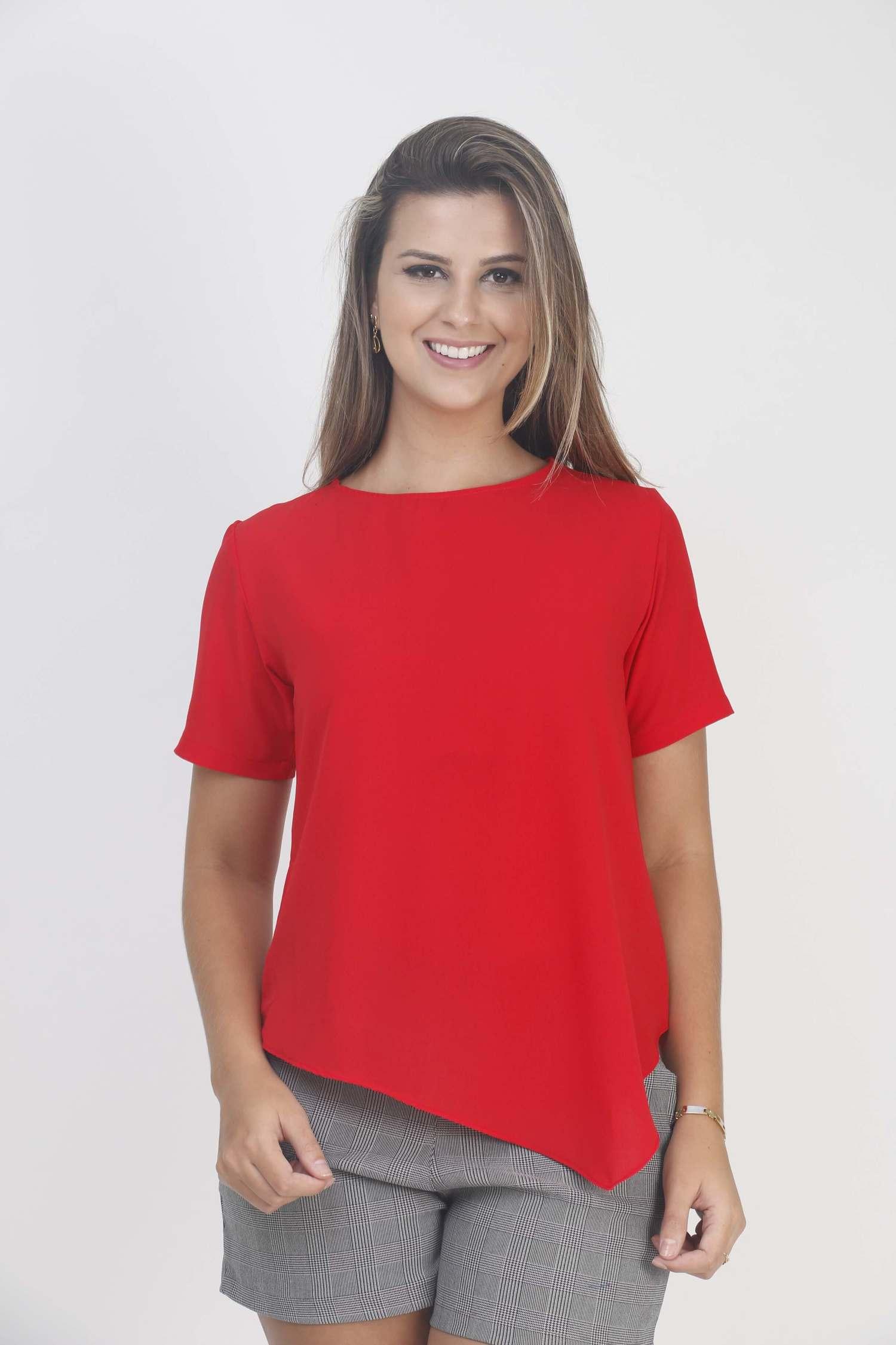 Blusa Triangular Vermelha