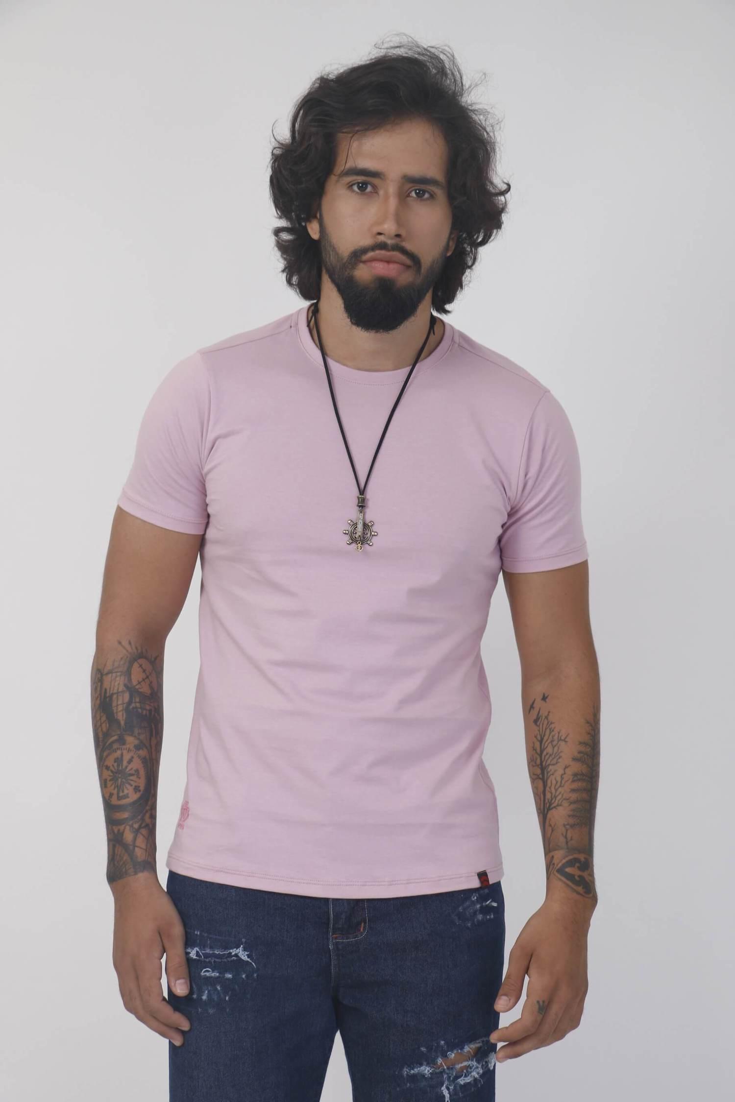 Camiseta Rosa Claro Slim