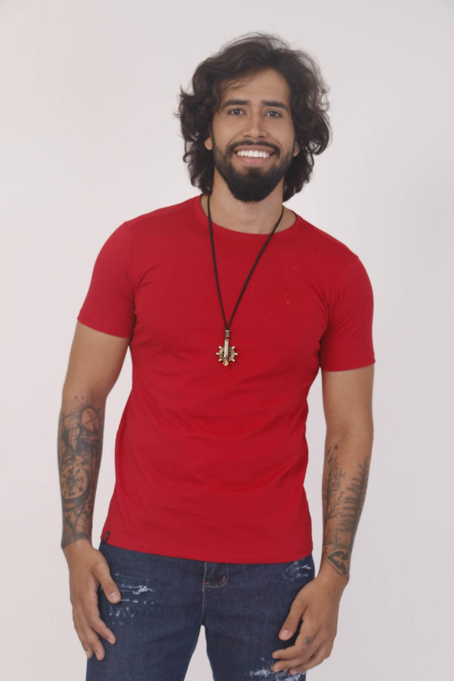 Camiseta Vermelha Slim