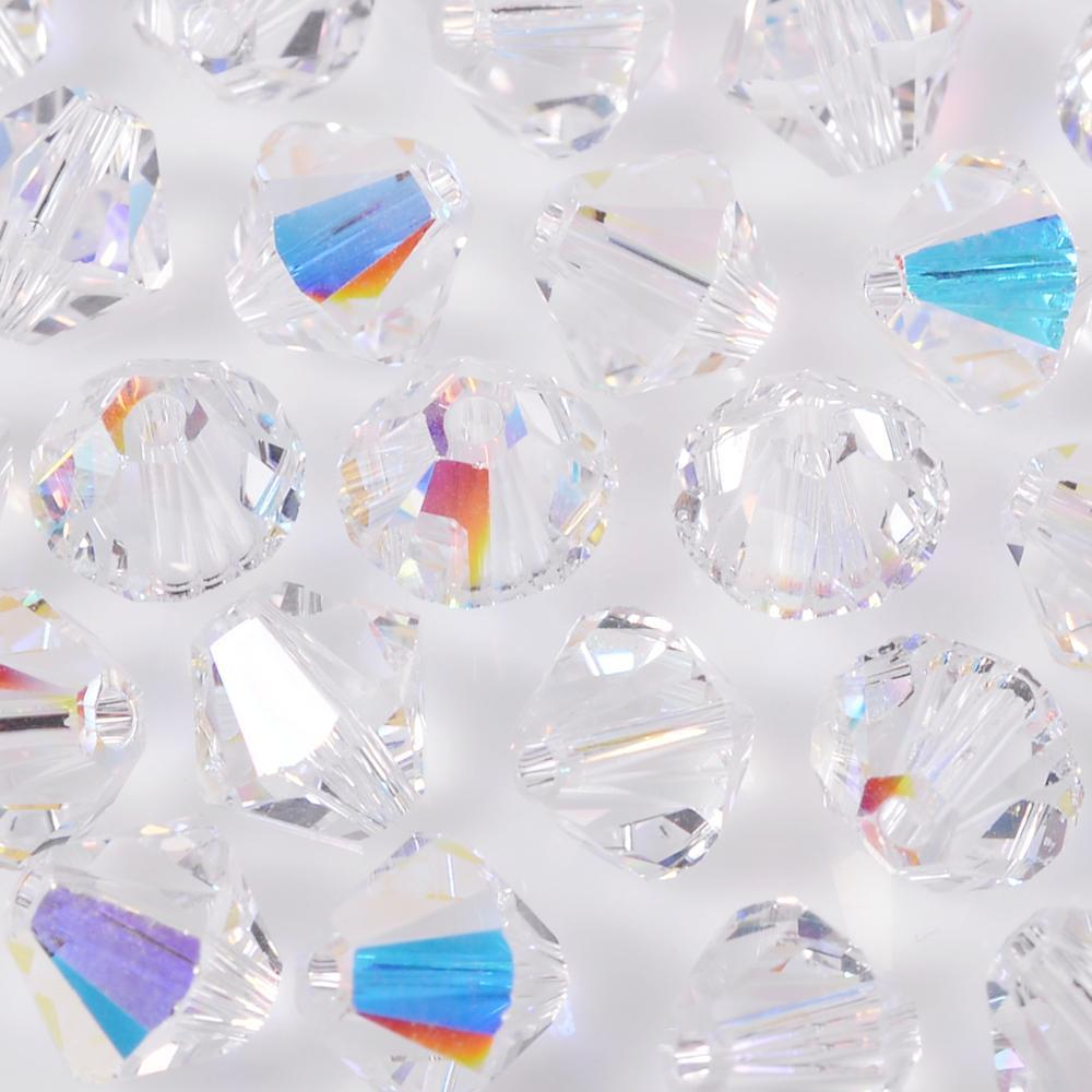 Balão Swarovski Cristal Aurora Boreal 6mm 360pcs