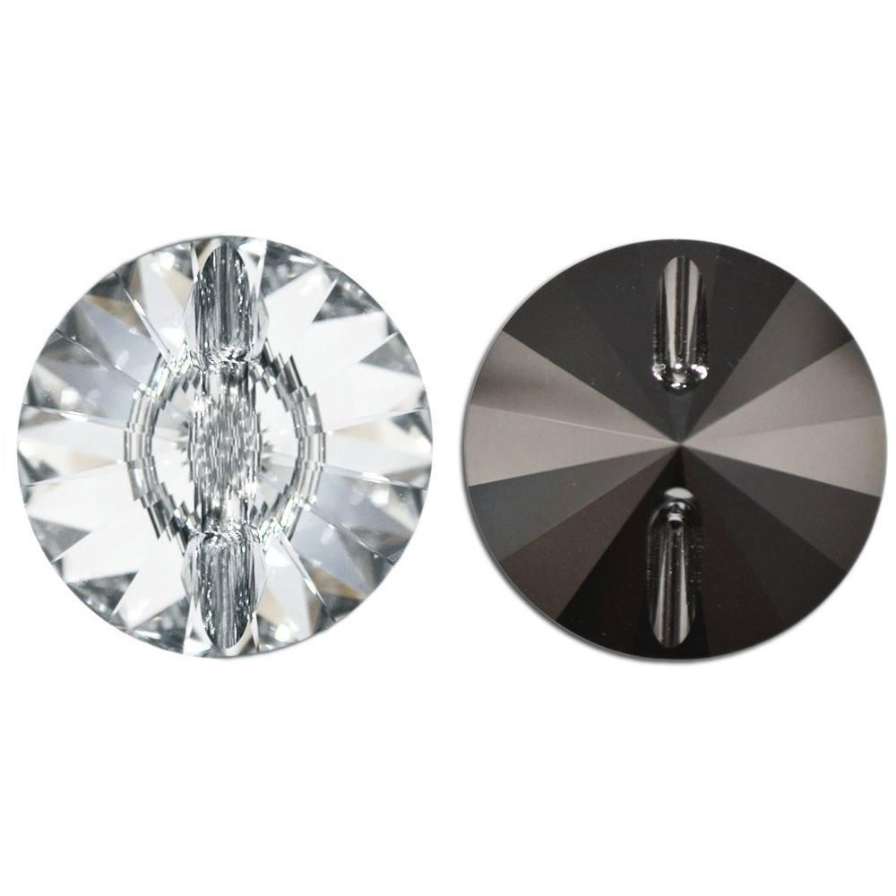 Botão Rivolli Swarovski Cristal 10mm 72pcs