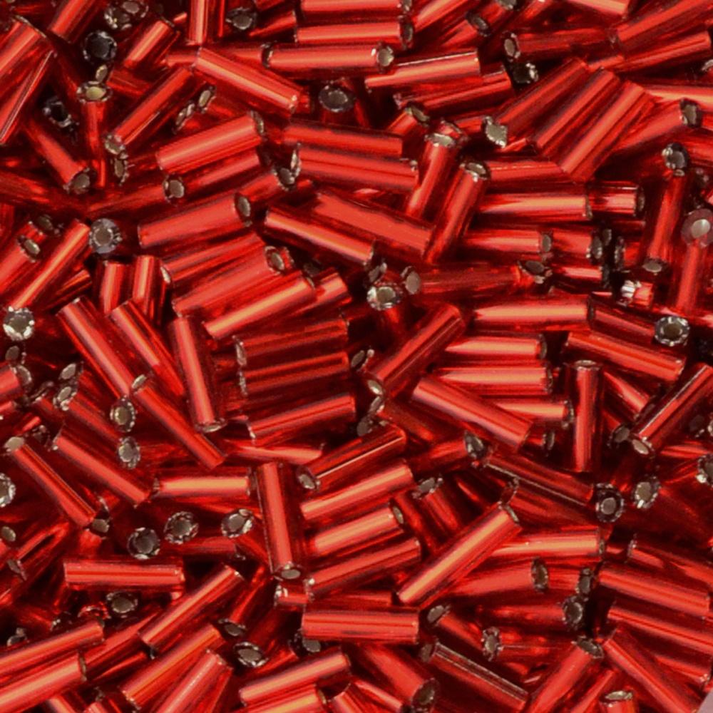 Canutilho Transp. Preciosa Vermelho 3pol.=7mm 500g