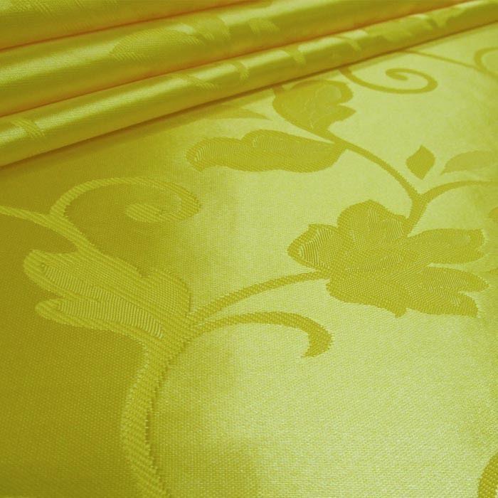 Tecido Cetim Brocado Amarelo