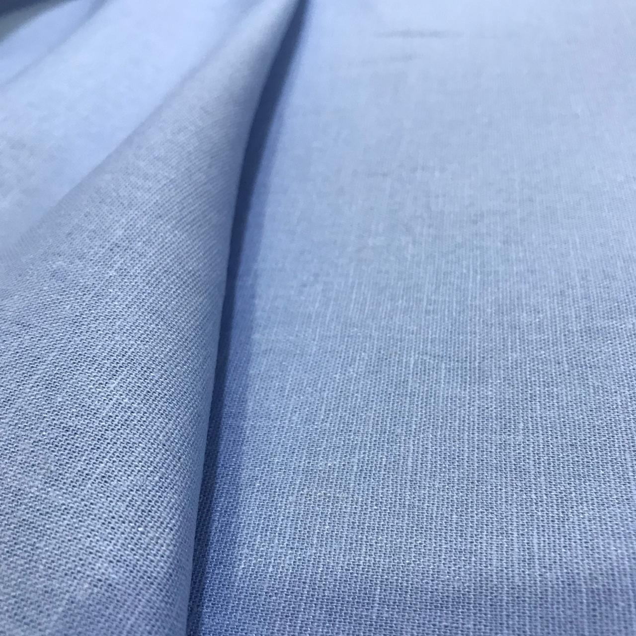 Tecido Linho com Elastano Azul Claro