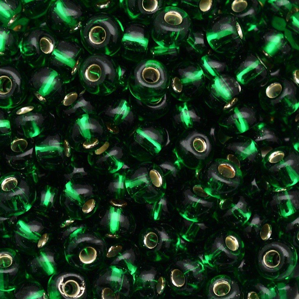 Miçanga Transparente Preciosa Verde 12/0=1,9mm 250g