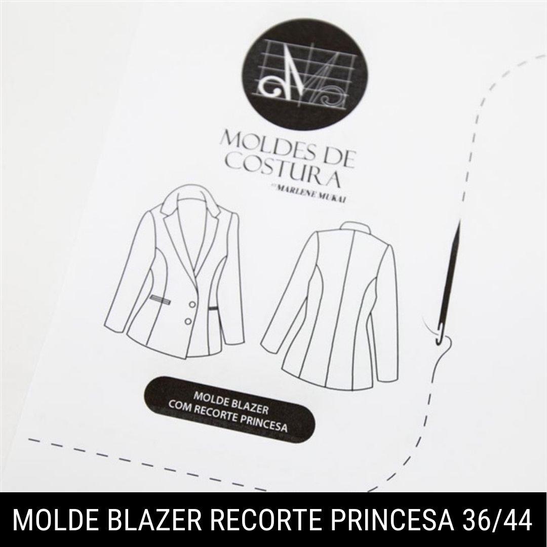 Molde Blazer com Recorte Princesa TM36 ao 44 - Marlene Mukai