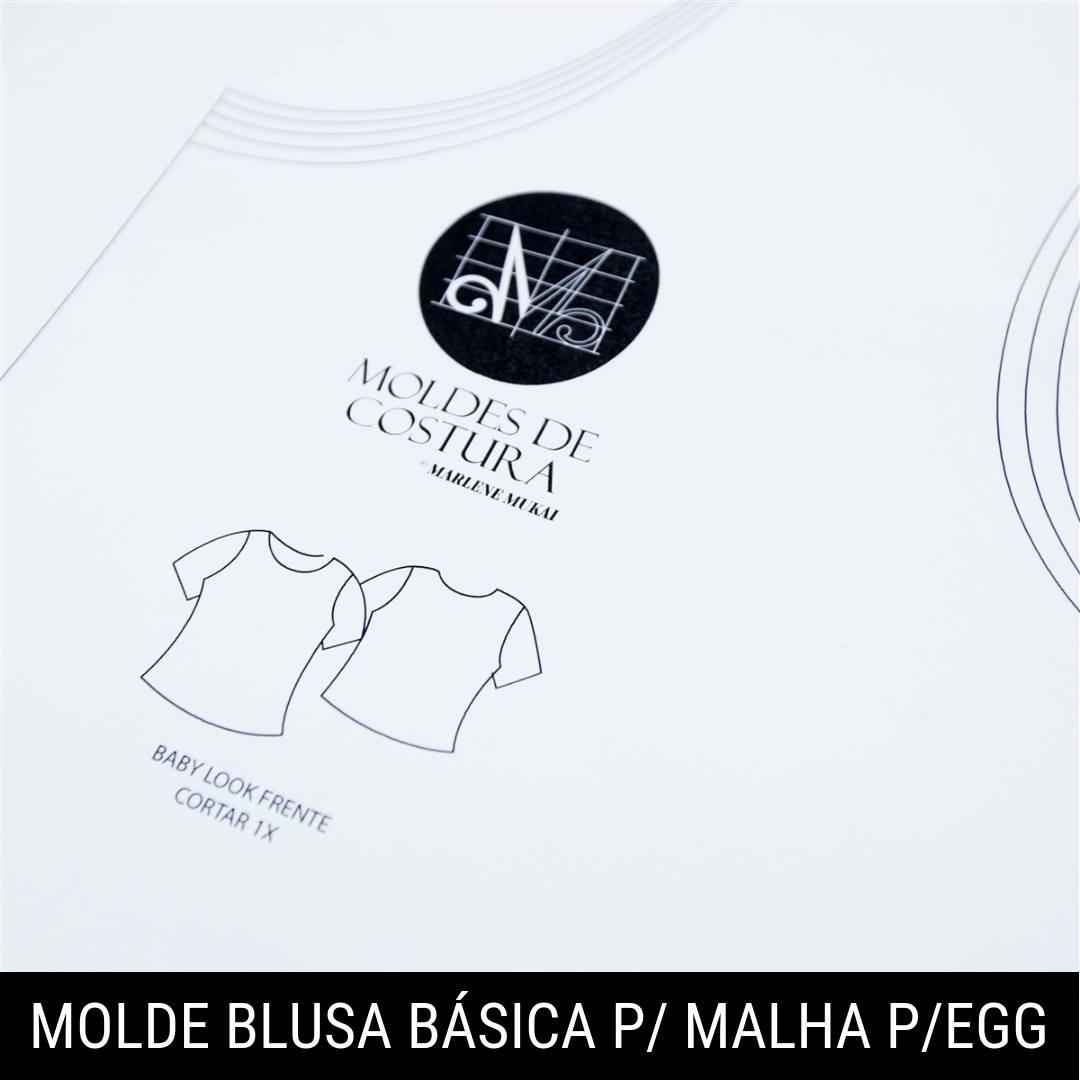 Molde blusa básica para malha P ao EGG - by Marlene Mukai