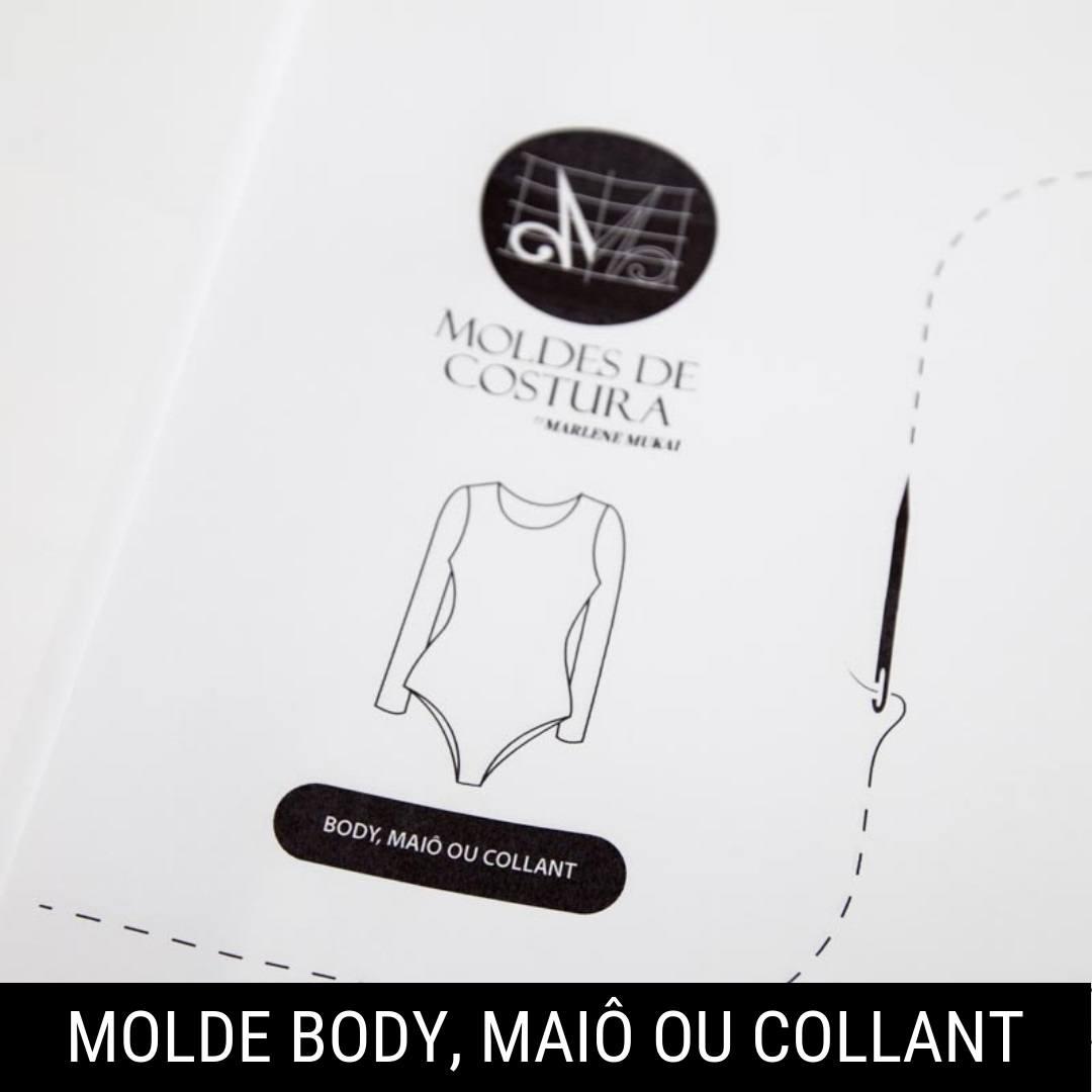 Molde body, maiô ou collant - by Marlene Mukai
