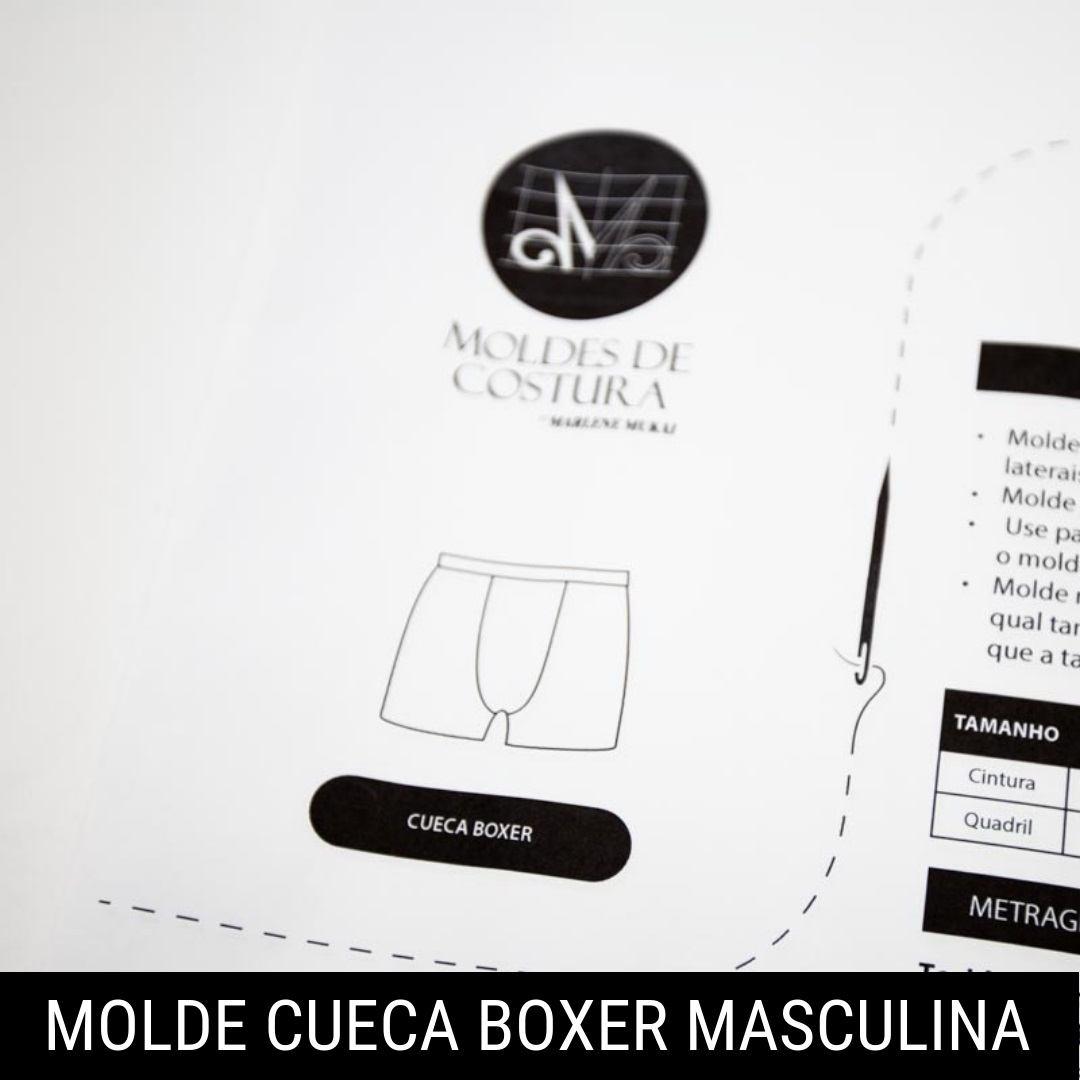 Molde cueca boxer - by Marlene Mukai