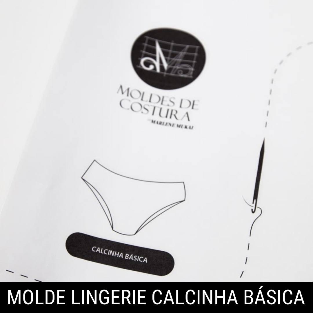 Molde lingerie calcinha básica - by Marlene Mukai