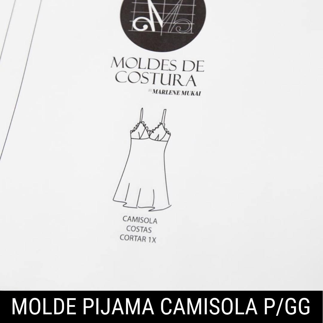 Molde pijama camisola TM P ao GG - by Marlene Mukai