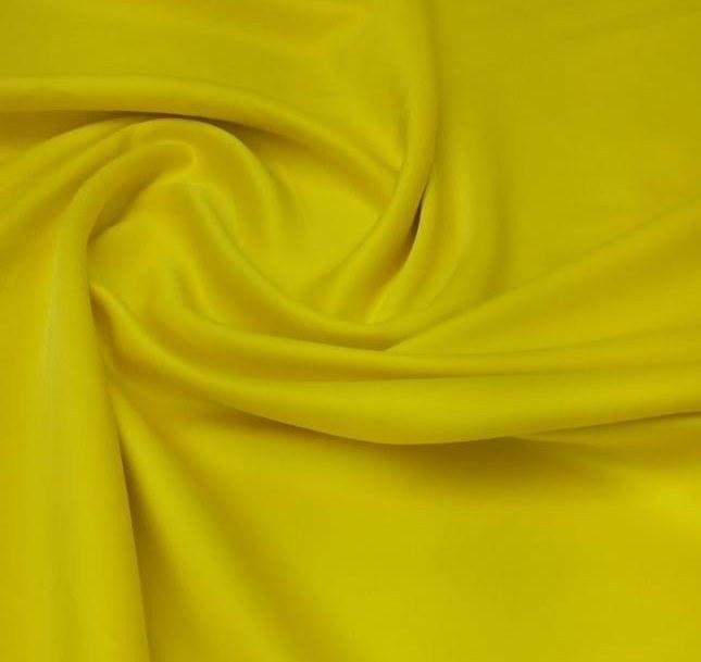 Tecido Crepe Peach Vision Amarelo Canário