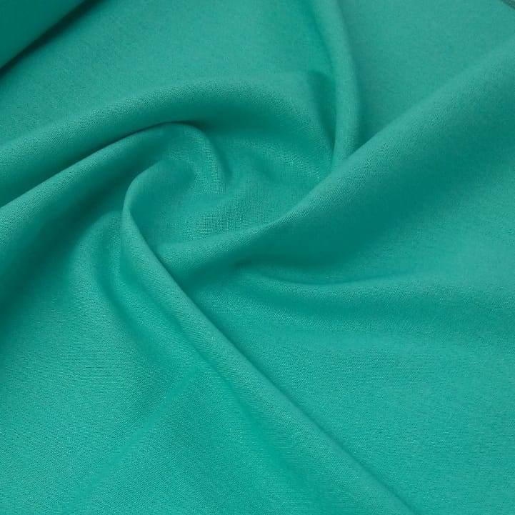 Tecido Linho Misto Verde Tiffany