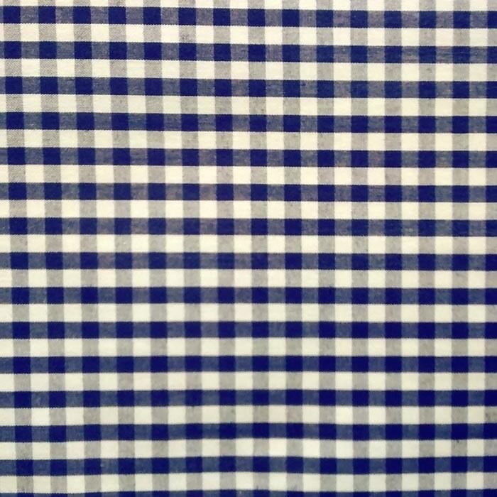Tecido Tricoline Vichy Azul Marinho