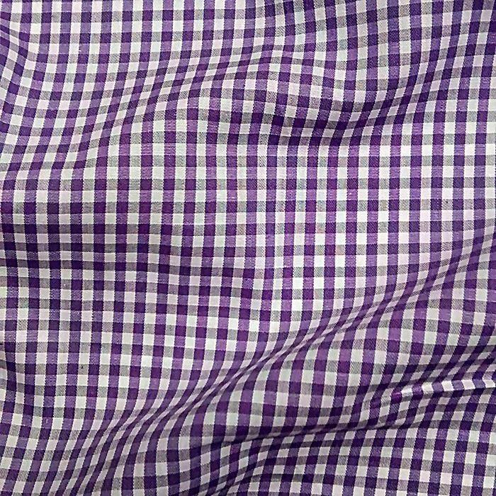 Tecido Tricoline Vichy Violeta