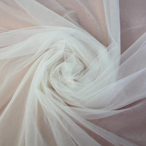Tecido Tule Francês Fosco Branco - 2,50m de largura