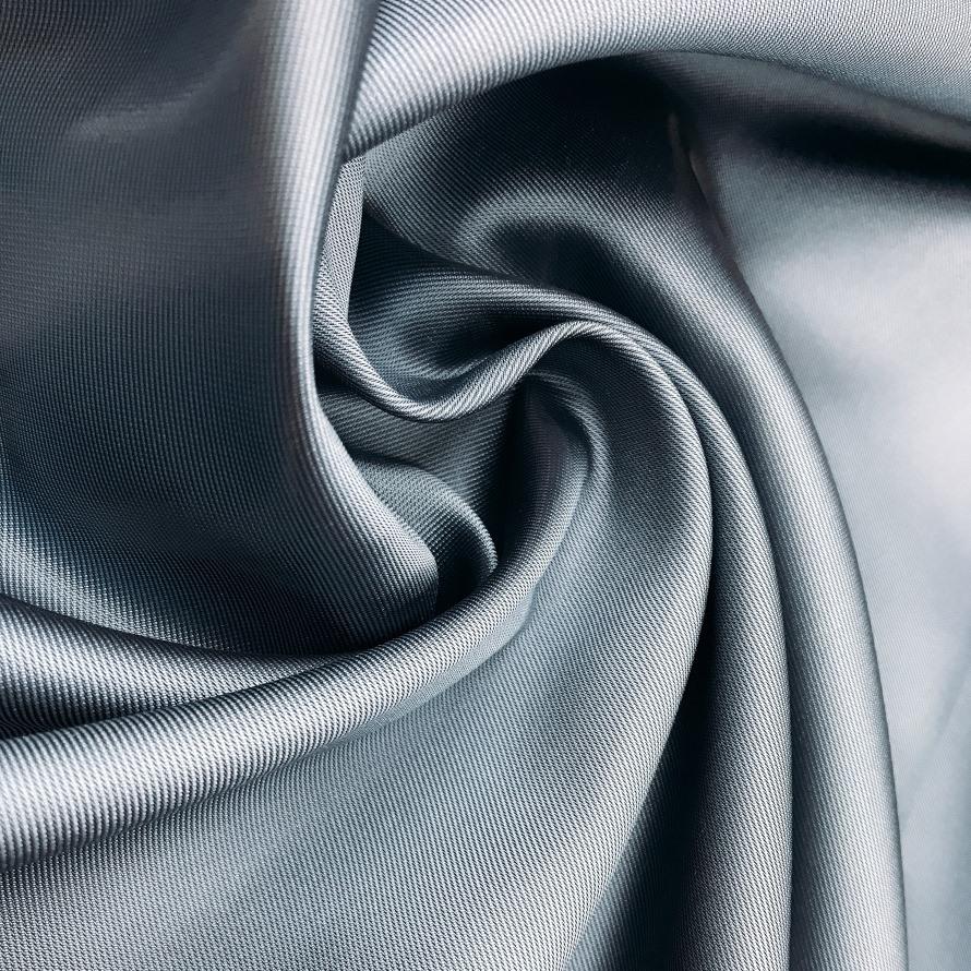 Tecido Zibeline de Poliéster Azul Aço - Pantone 2165 C