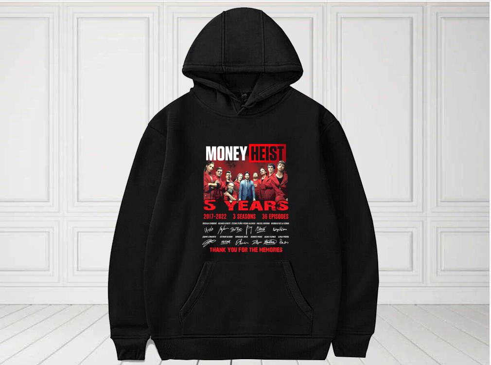 5%20Years%202017%202022%20Money%20Heist%203%20Season%2036%20Episode%20Thank%20You%20For%20The%20Memories%20Shirt,%20Money%20Heist%20For%20Fan%20Shirtbao4 - Awesome 5 Years 2017 2022 Money Heist 3 Season 36 Episode Thank You For The Memories Shirt, Money Heist For Fan men shirt