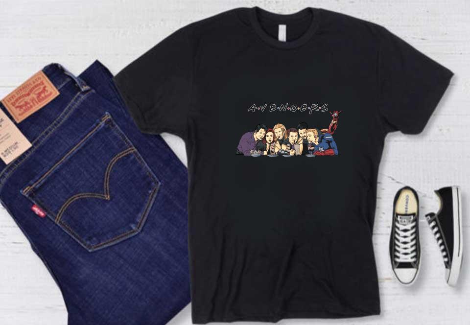 Avengers And Friends Shirt, Friends Marvel Avengers Shirt, Marvel End Game Friends Shirt