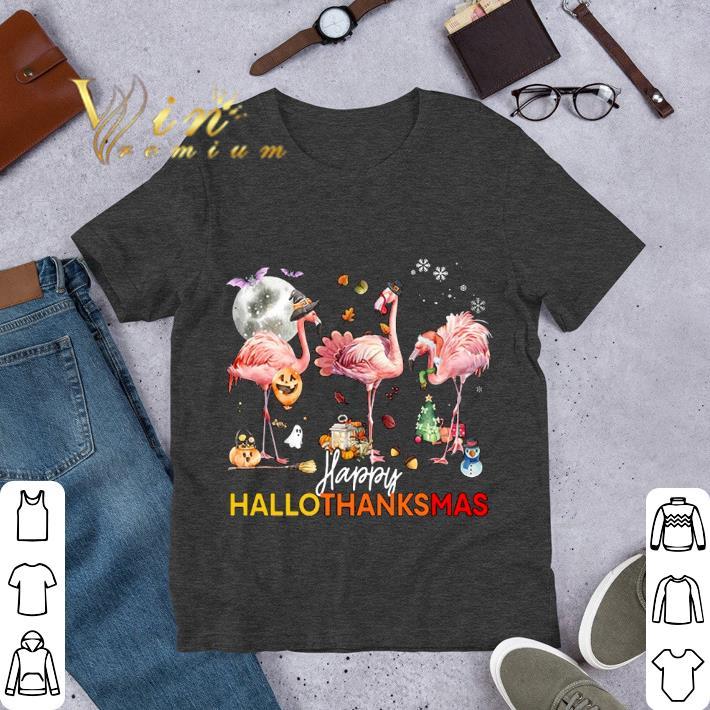 Flamingos%20Happy%20HalloThanksMas%20Halloween%20Thanksgiving%20Christmas%20Shirt%20hoodieN9k14Tdian 01103Halloween - Flamingos Happy HalloThanksMas Halloween Thanksgiving Christmas Shirt