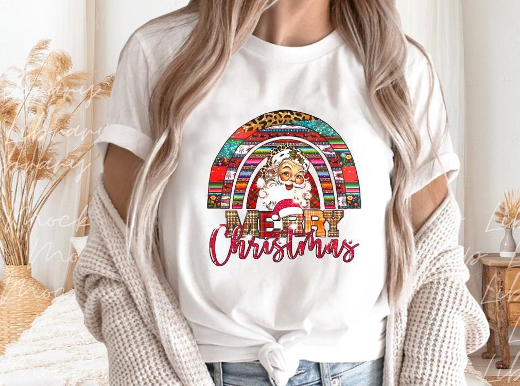 Santa%20Rainbow%20Merry%20Christmas%20T shirt,%20Merry%20Christmas%20Santa%20Rainbow%20T shirtbao2 - Santa Rainbow Merry Christmas T-shirt, Merry Christmas Santa Rainbow T-shirt