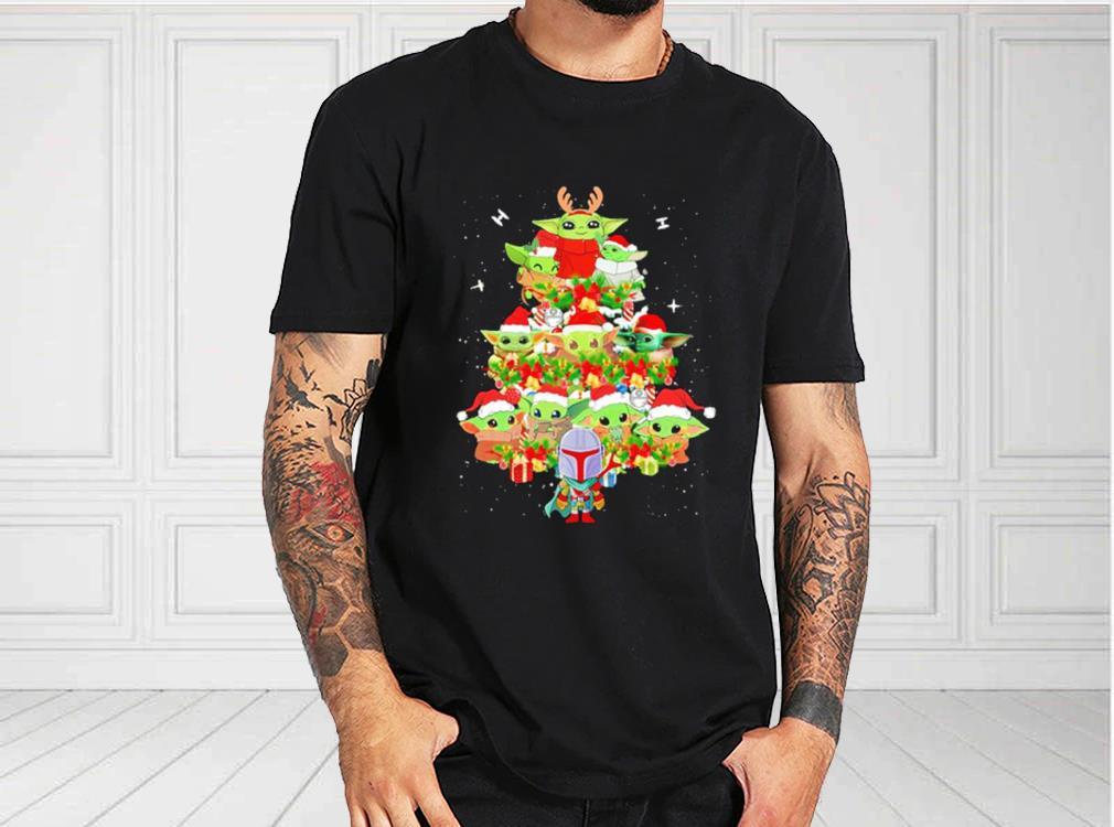 Star%20Wars%20Baby%20Yoda%20And%20Boba%20Fett%20As%20Christmas%20Tree%20Shirt,%20Baby%20Yoda%20Christmas%20Tree%20For%20Fan%20Shirtbao1 - Official Star Wars Baby Yoda And Boba Fett As Christmas Tree Shirt, Baby Yoda Christmas Tree kid shirt, women shirt