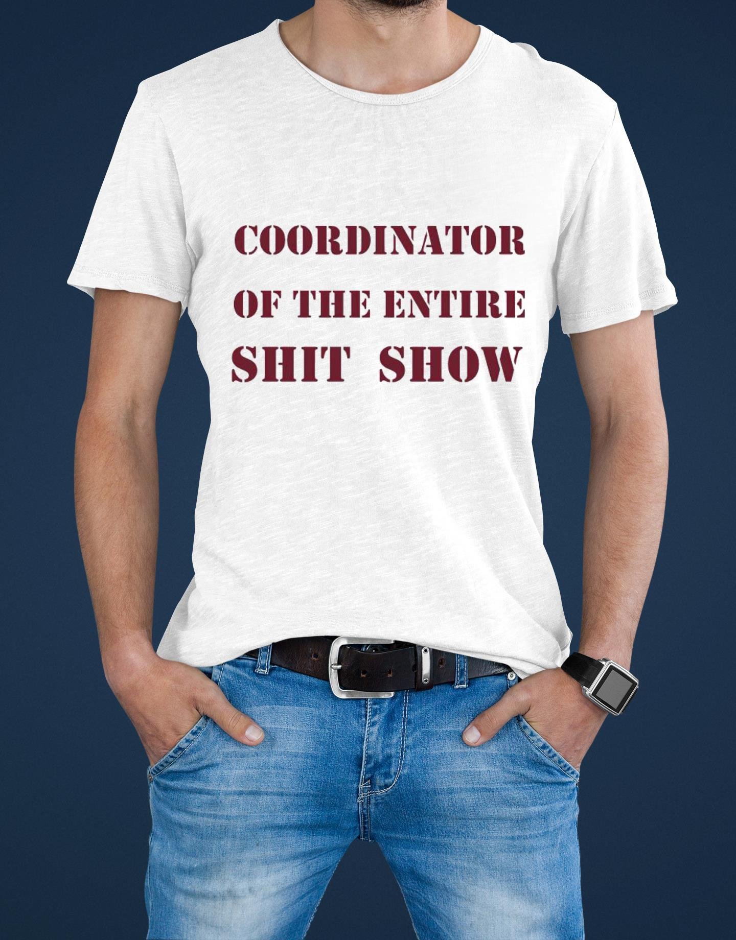 Best Coordinator of the entire shit show shirt