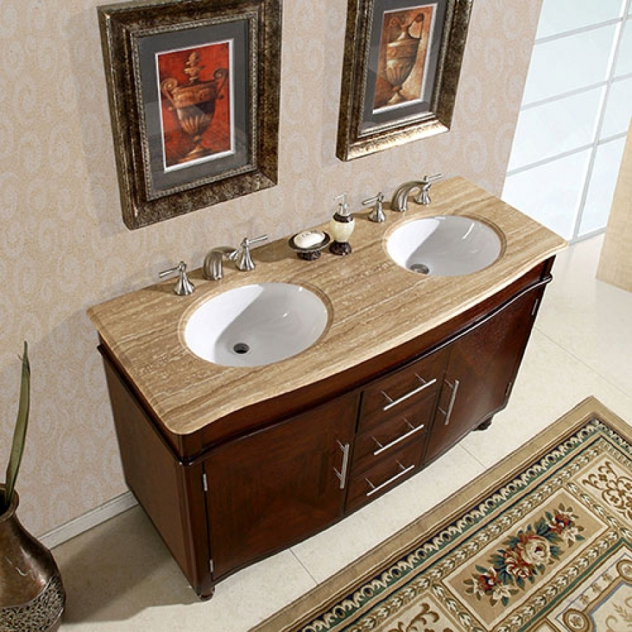 55 Inch Bathroom Vanity Double