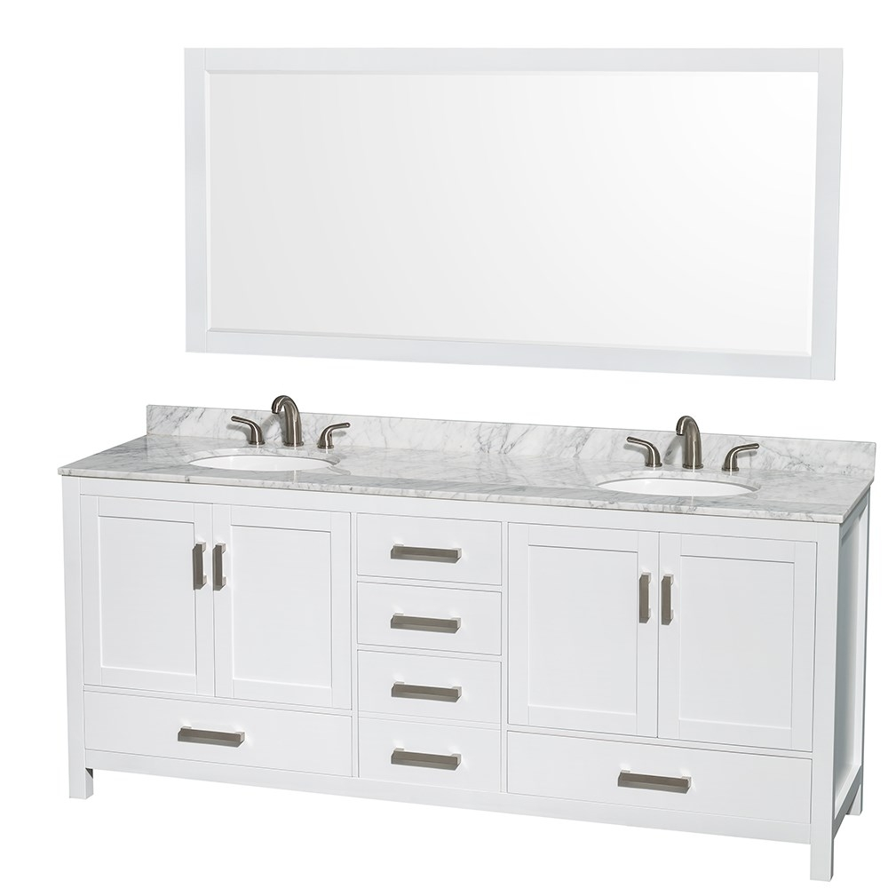 80 Inch Double Sink Bathroom Vanity Top