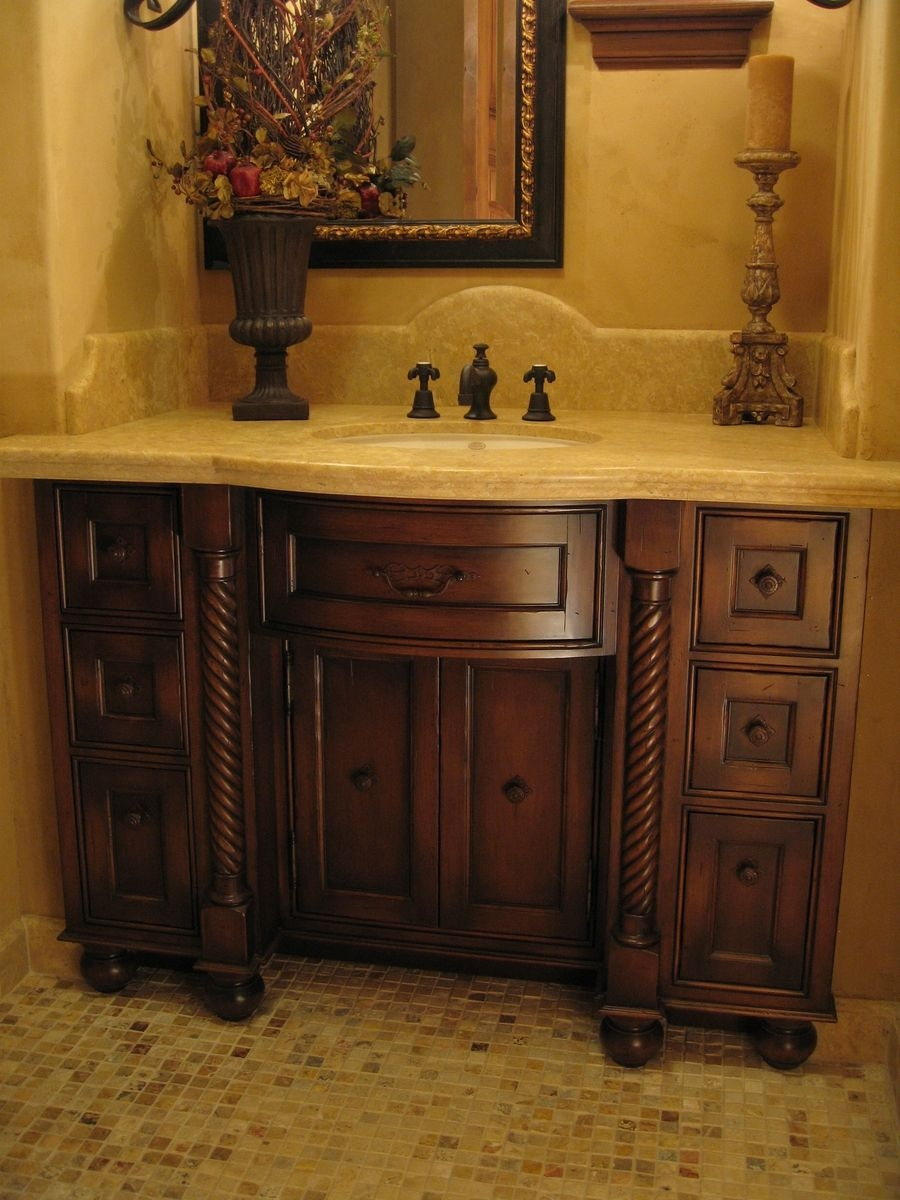 Bow Front Bathroom Vanity Cabinet