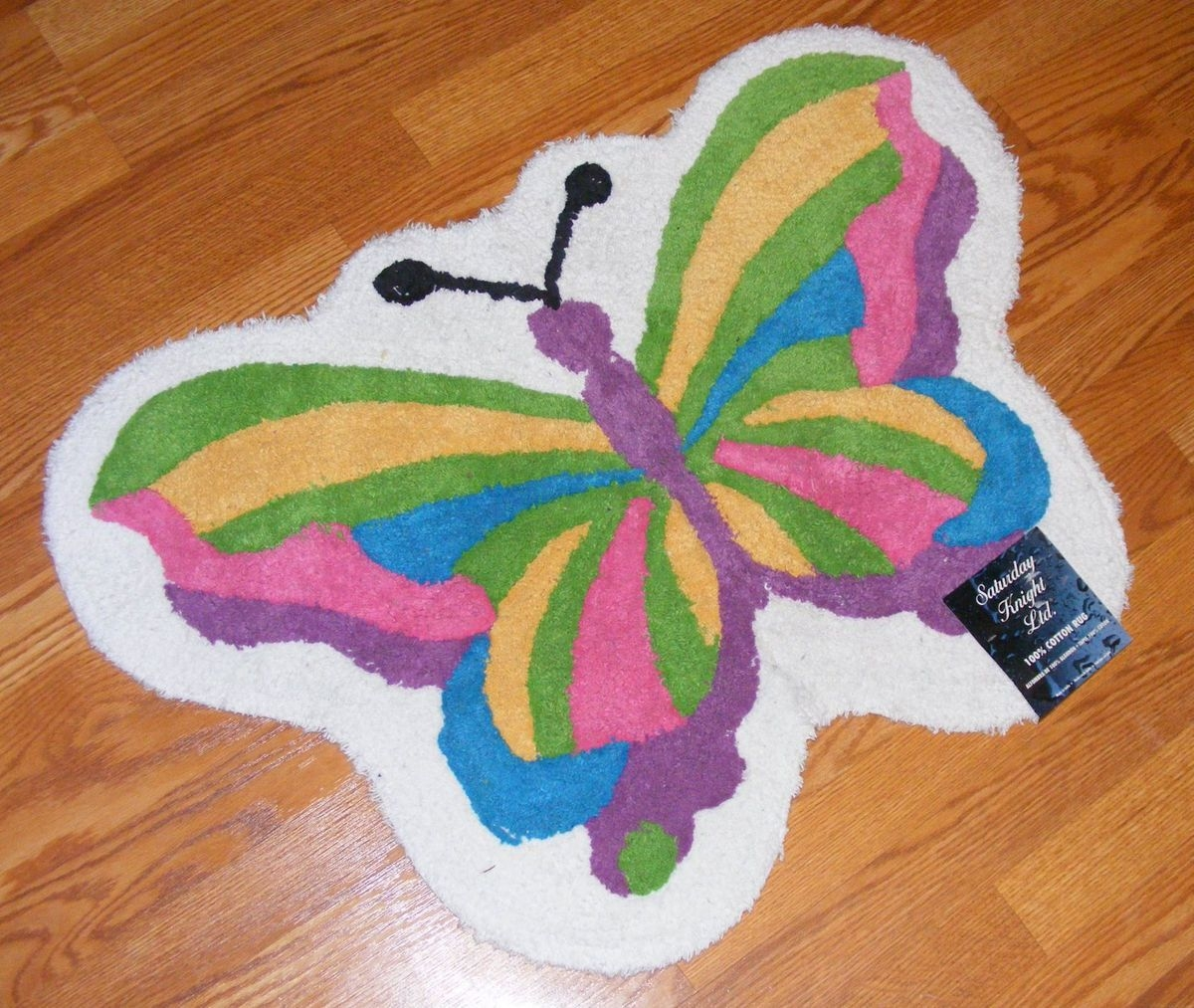 Butterfly Shaped Bath Rugrainbow butterfly shaped bath rug saturday knight 24x33 100 cotton