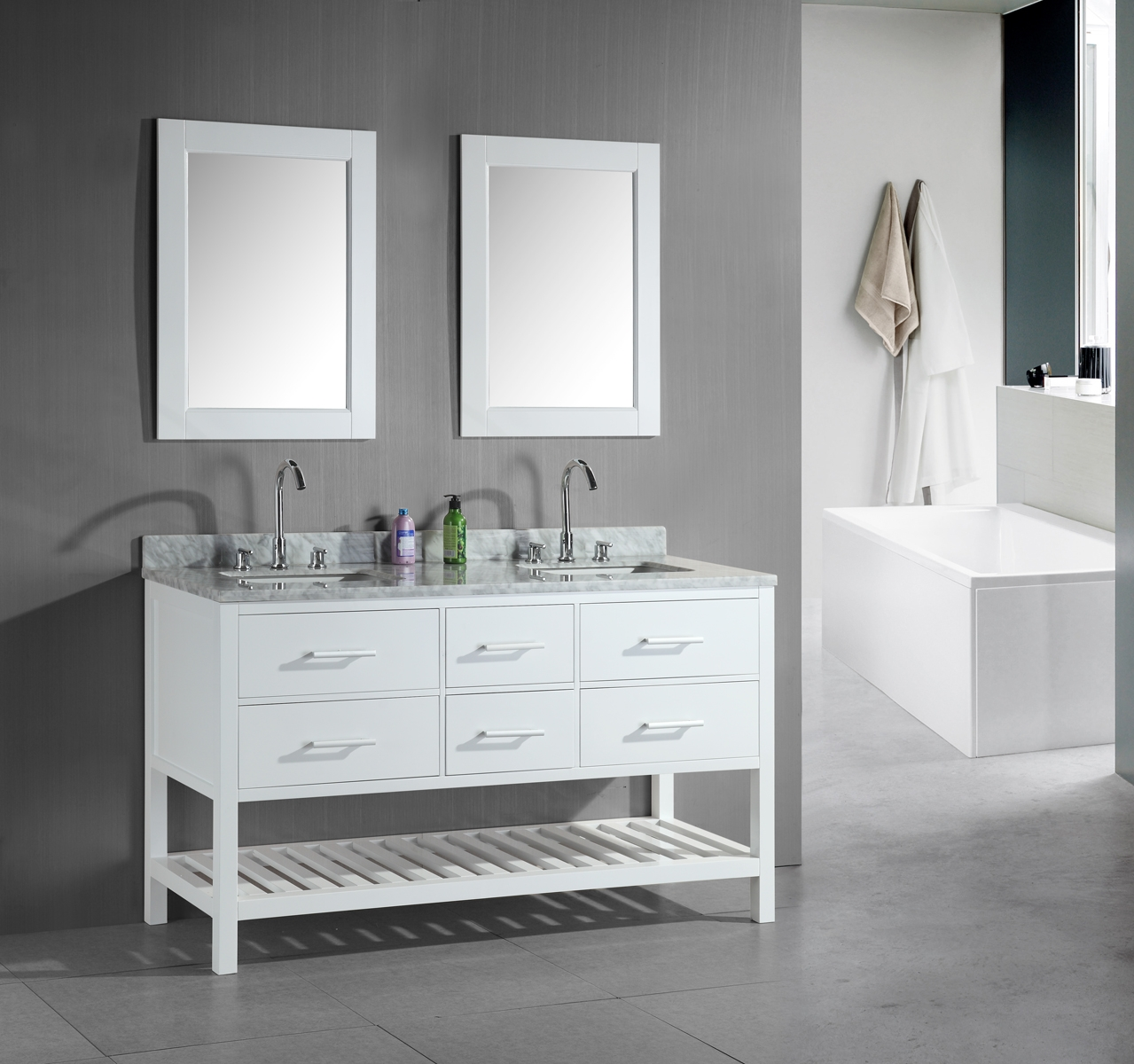 Permalink to Double Sink Vanities For Small Bathrooms