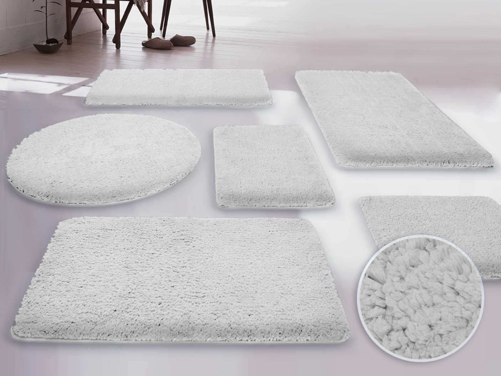 Extra Large White Bath Rugs