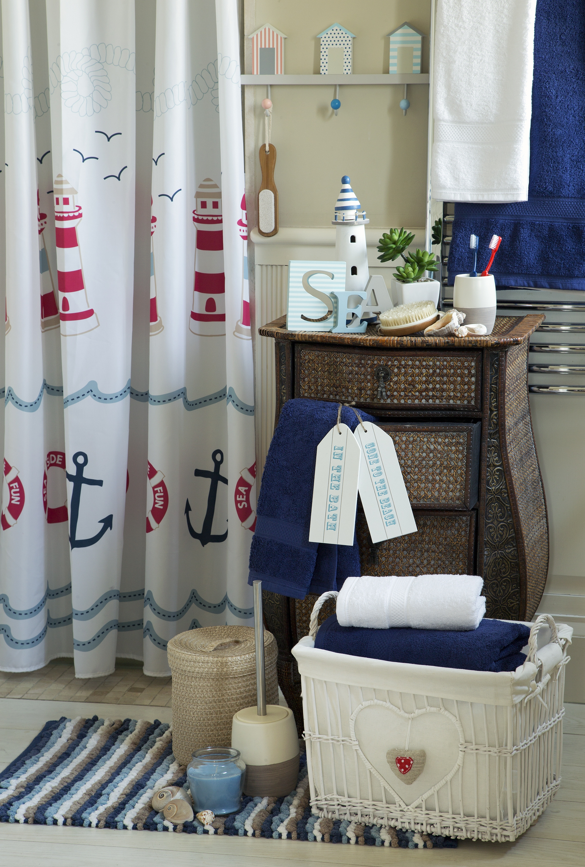 Lighthouse Themed Bathroom Rugsi am replacing my blue lighthouse shower curtain with this one