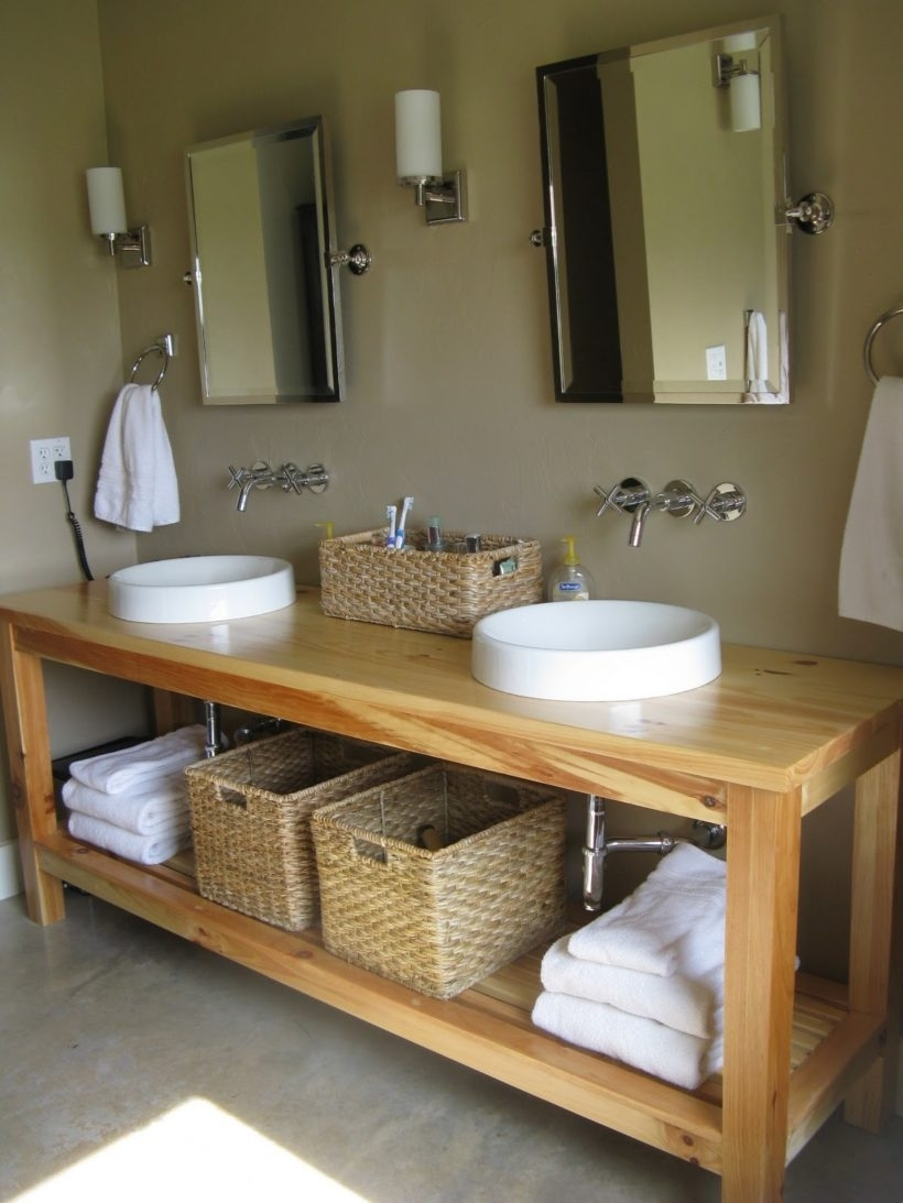 Solid Wood Bathroom Vanities Without Tops