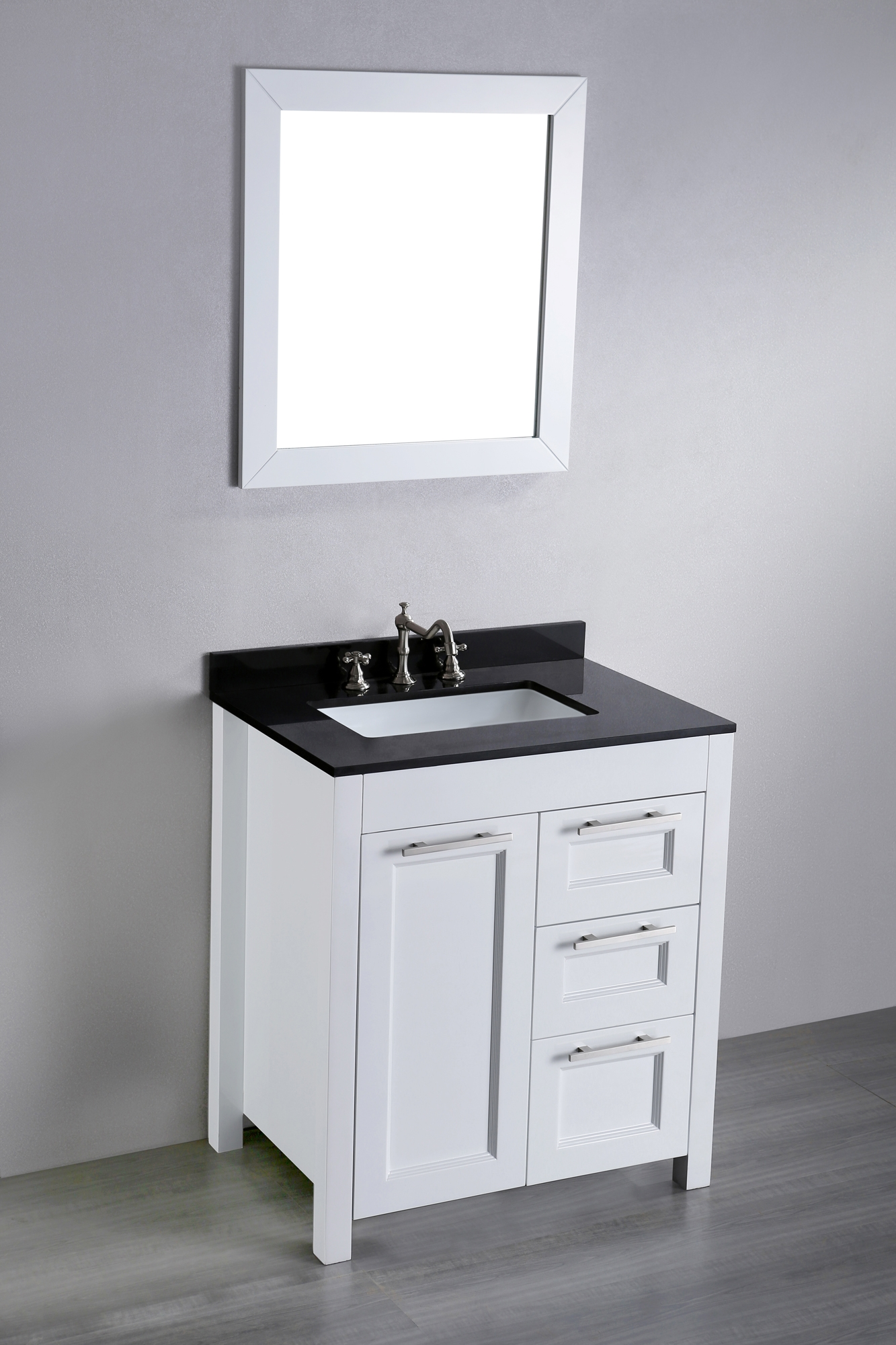 30 Inch White Vanity With Drawers | Bathroom Decoration