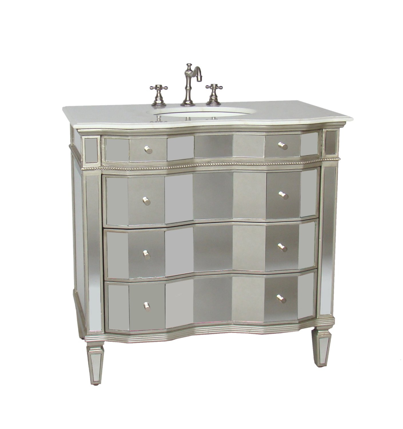 36 Inch Bathroom Vanity With Marble Top