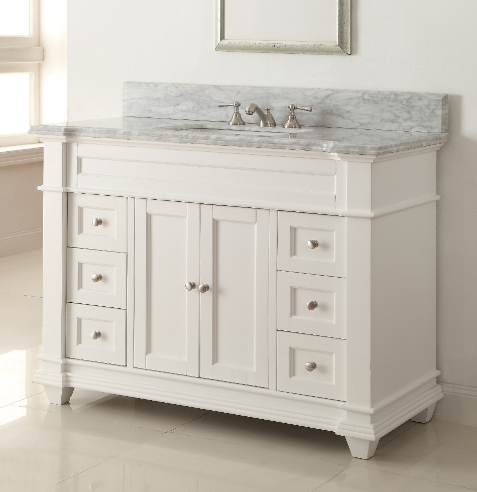 42 Inch Bathroom Vanity With Marble Top