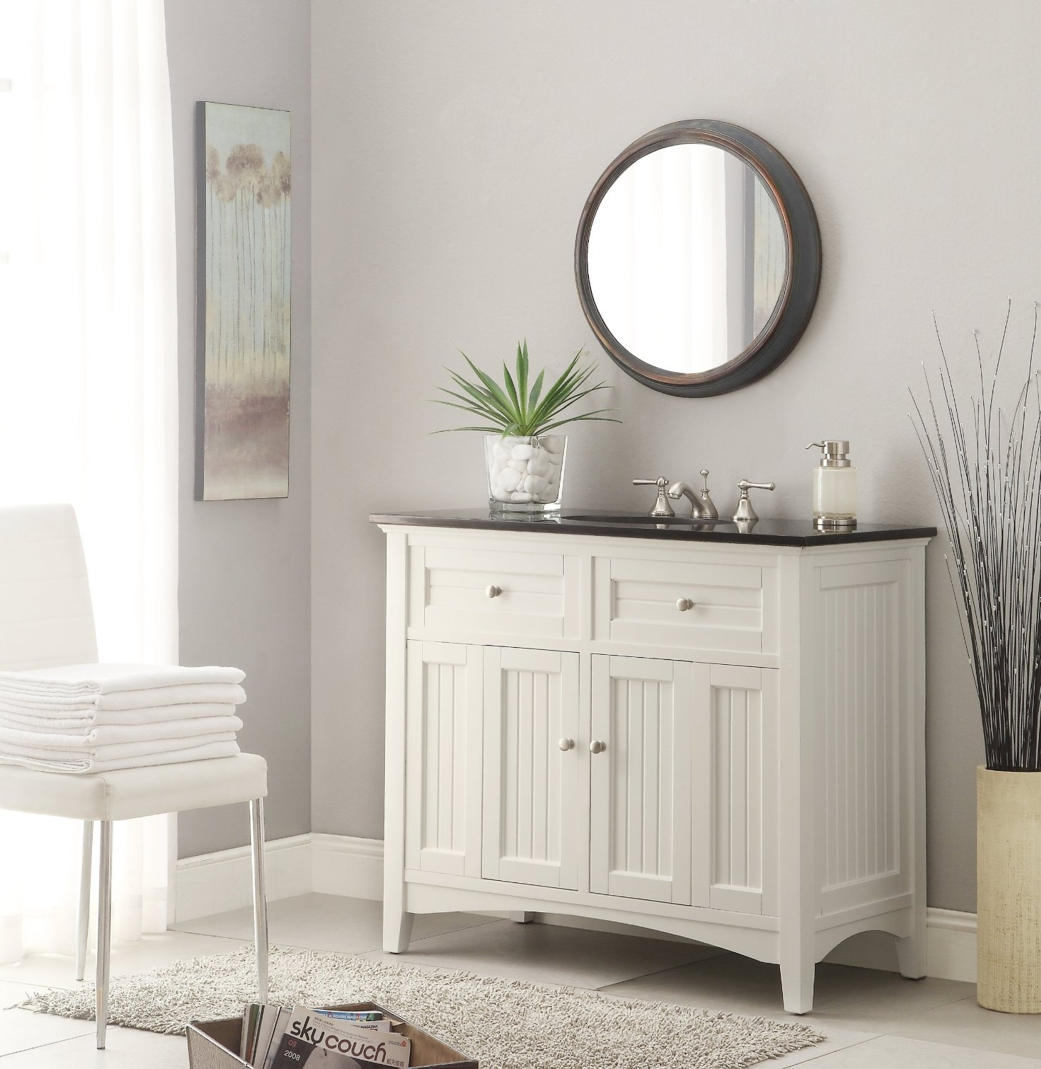 53 Inch Double Sink Bathroom Vanity